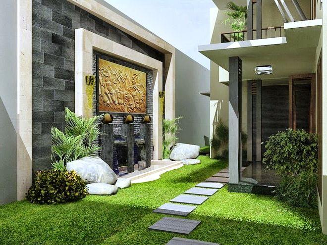 Taman Minimalis Vertikal di Belakang Rumah
