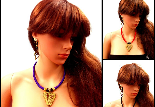 Handmade DOKRA Necklaces use by Modern woman likes to dawn trendy jewelry pieces
