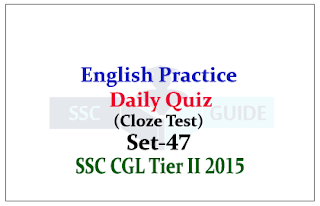 Practice English Questions (Cloze Test) for SSC CGL Exams
