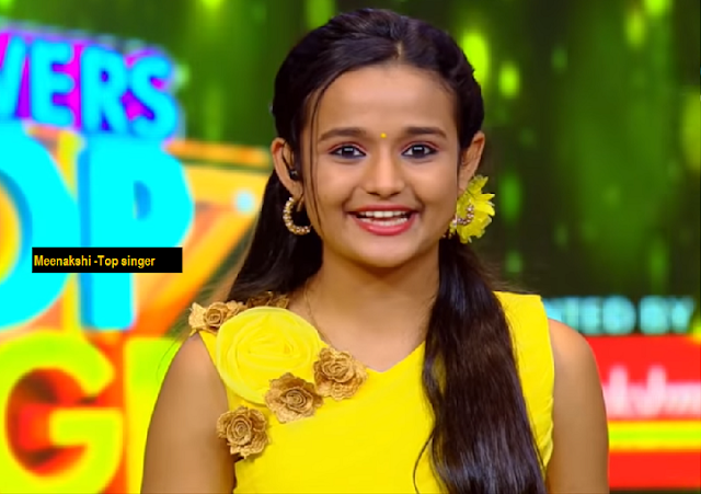 Meenakshi as anchor of Flowers TV Top Singer show