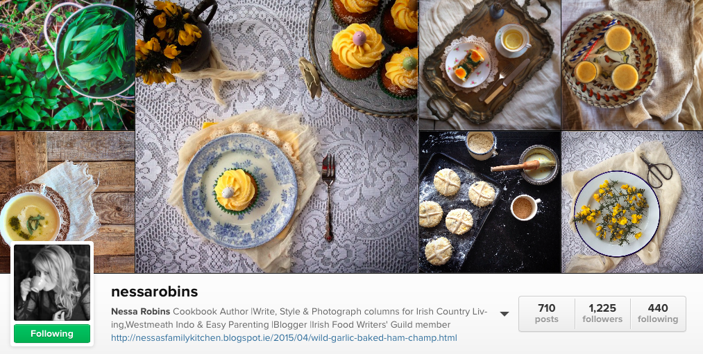 6 Irish Food Instagram to follow - Nessa Robins