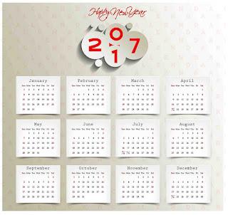2017カレンダー無料テンプレート17
