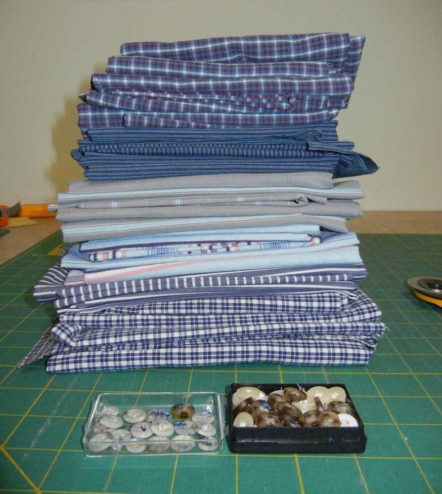 Patchwork Quilt From Mens Shirts: Baumcat: Project: Men's Dress Shirt Quilt