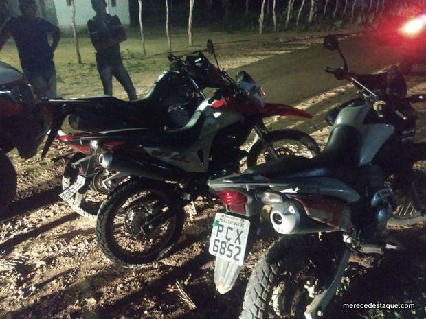 Três motos roubadas em Santa Cruz são recuperadas em Alcantil, na Paraíba