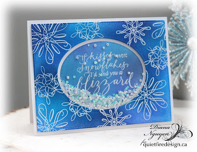 Diana Nguyen, Quietfire Design, Let It Snow, If kisses were snowflakes, resist embossing