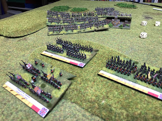 French fire forces the Allied units to swap positions