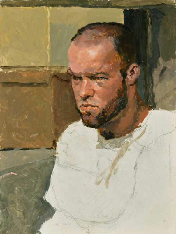 Douglas Ferrin, Portrait of Chuck Ferguson,  International Art Gallery, Self Portrait, Art Gallery, Portraits of Painters, Fine arts, Self-Portraits, Painter Douglas Ferrin