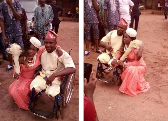 Beautiful Nigerian Lady Weds Physically Challenged Lover