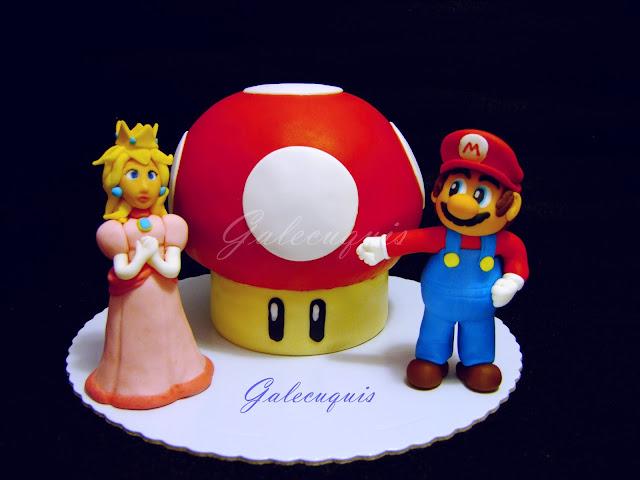 Tarta Champiñón Super Mario y Peach