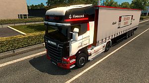 Stock Vermeersch skin and trailer for Scania Streamline