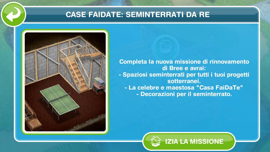 The Sims FreePlay IT: Case faidate: seminterrati da re