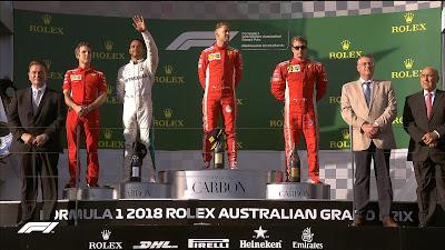 2018 Australian F1 GP results.