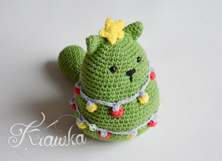 Krawka: Christmas CAT tree crochet pattern by Krawka Christmas decoration, gift, present hand made