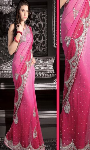 Sparkly Shimmer Georgette Saree's