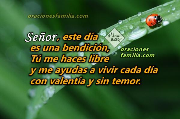Oraciones para comenzar el día, buenos días con corta oración para que Dios me bendiga,  me ayude y me de protección por Mery Bracho.