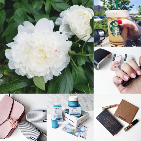 bbloggers, bbloggerca, beauty blog, instamonth, instagram, round up, lifestyle, canadian blogger, garden, starbucks, iced coffee, sensationail, express gel kit, motd, vichy, aqualia thermal, influenster, voxbox, national pink day, chapters indigo bag
