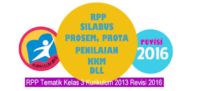 Download RPP Tematik Kelas 3 Kurikulum 2013 Revisi 2016