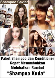 Paket Shampoo Kuda Caviar dan Conditioner Melebatkan Rambut