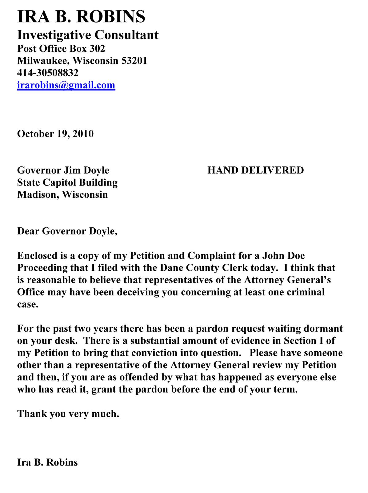 Laurie Bembenek Info Part 17B Petition For John Doe
