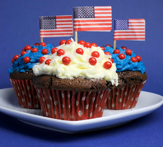 red white and blue chocolate cupcakes recipe