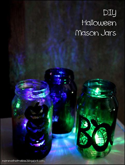 Pinspiration - Halloween Mason Jars