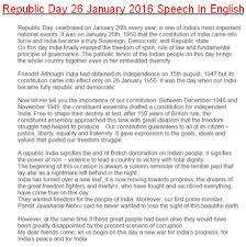 republic day speech in marathi language Republic day speech in hindi,  you can checkout republic day speech in hindi language at below the line for free  republic day speech in marathi.
