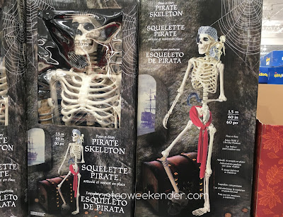 Pose-n-Stay Pirate Skeleton with Parrot - Arrr, buy me at your nearest Costco for Halloween