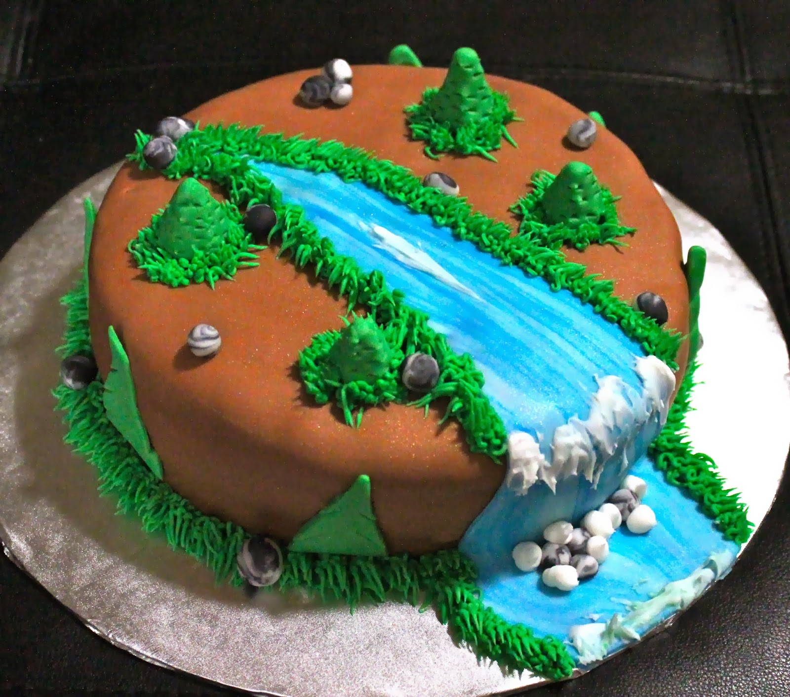 Love Dem Goodies Nature Waterfall Cake