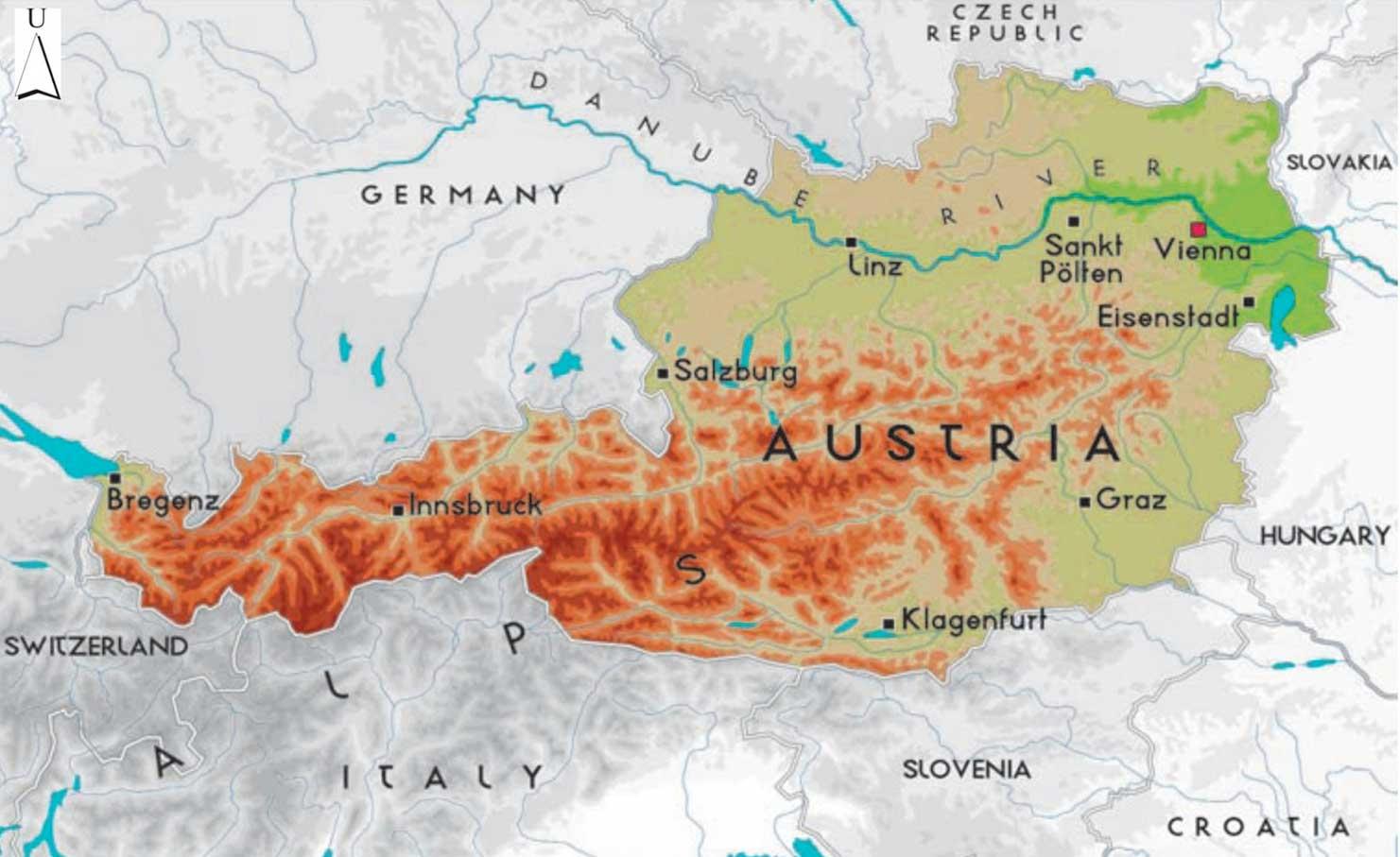 Gambar Peta Negara Austria