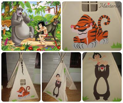 šator za decu knjiga o dzungli