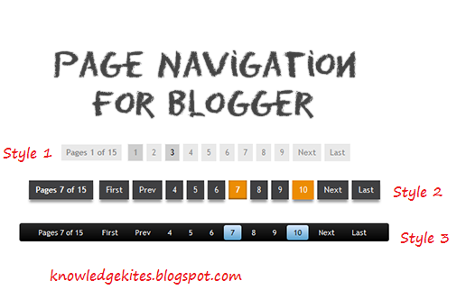 page navigation for blogger blog in different style