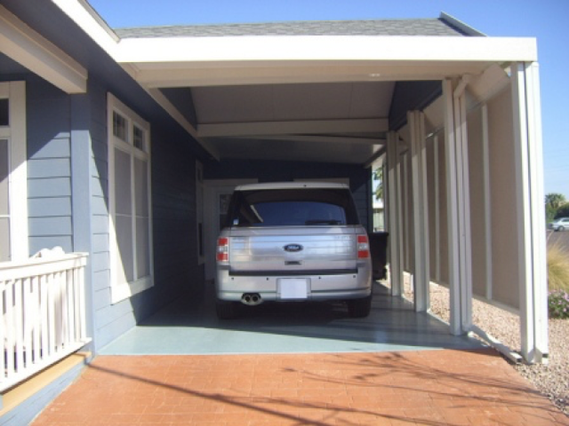 garasi semi terbuka
