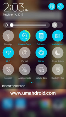 Notifikasi Panel Zenfone 3 Nougat