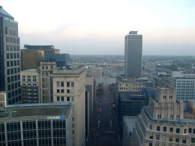 Downtown Indianapolis from Soldiers and Sailors Monument
