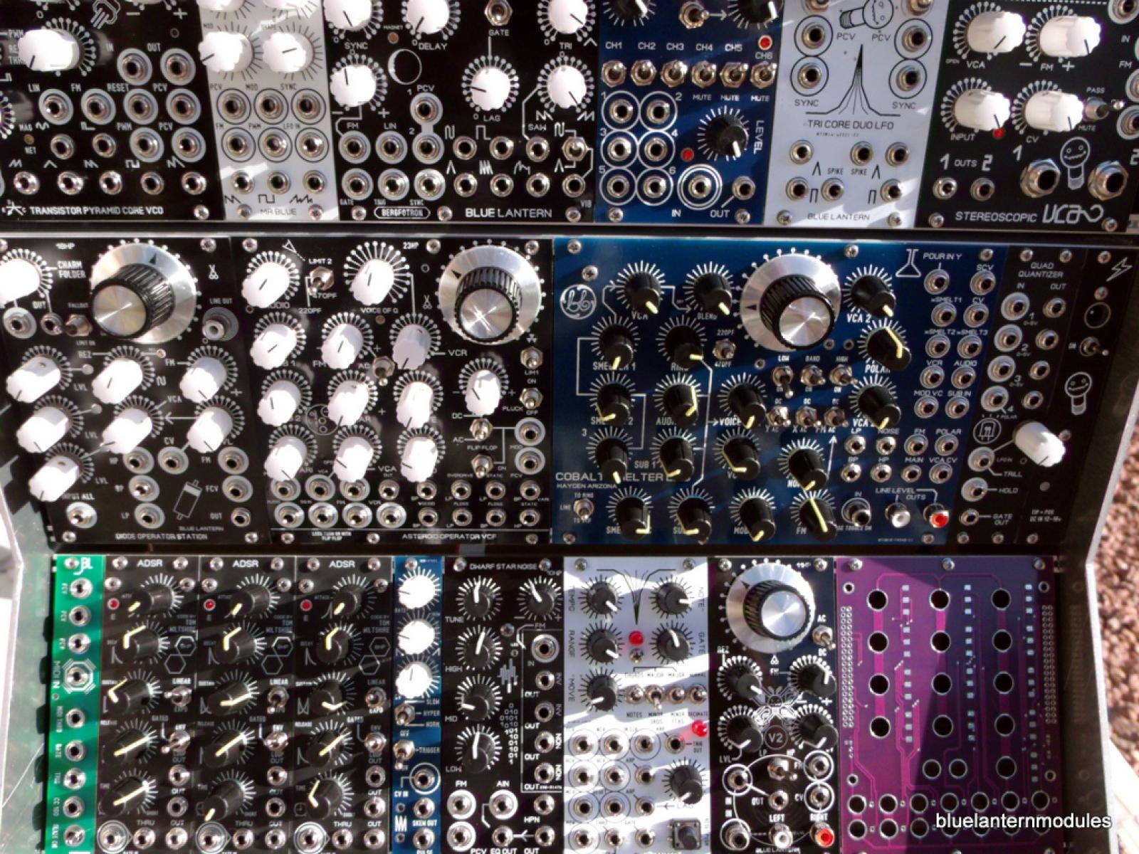 matrixsynth blue lantern modules 9u analog modular synthesizer system. Black Bedroom Furniture Sets. Home Design Ideas