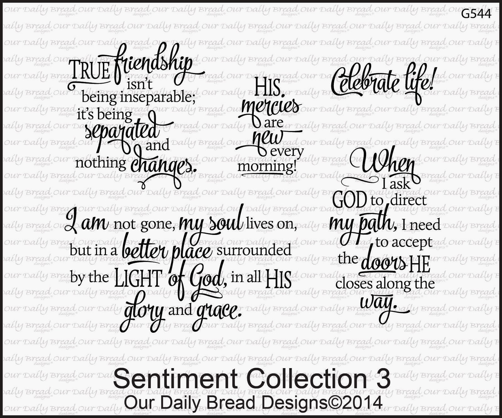 Our Daily Bread designs Sentiments Collection 3