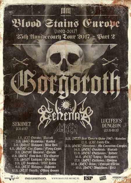 AMKEN: Τον Νοέμβριο σε Ευρωπαϊκή περιοδεία με τους GORGOROTH