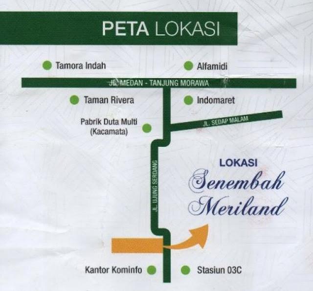 Peta lokasi perumahan subsidi di Medan Tanjung Morawa Sumatera Utara: