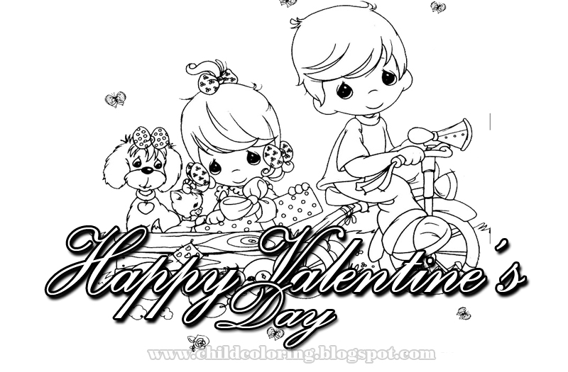 Happy Valentine´s Day Coloring ~ Child Coloring
