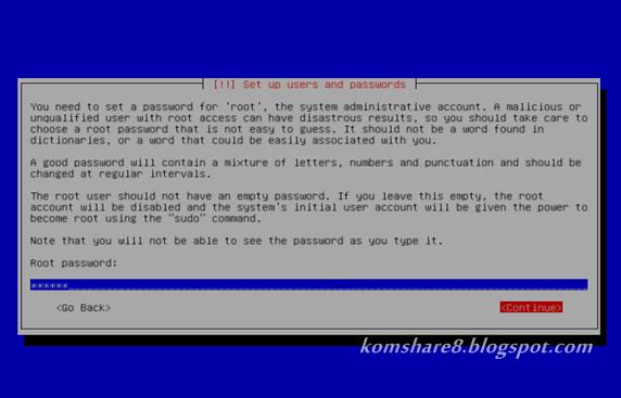 Masukkan Root Password