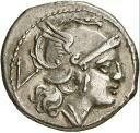 Quinario - 211 a.C. Crawford 44/6 anverso