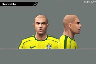 ultigamerz: PES 6 Ronaldo (Brazil Legend) Face