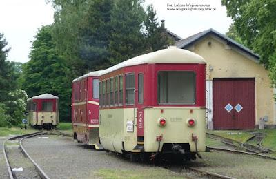 Osoblažka. Lokomotywa 705.914-0 z wagonem Btu stoi na stacji Osoblaha