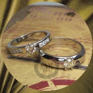 cincin emasputih perak p5730