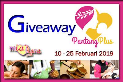 Giveaway PantangPlus.com Di Mialiana.com, Berpantang, Bersalin, Mengurut Selepas Bersalin, Berpantang Selepas Bersalin, Blogger Giveaway, Blog, Hadiah, Wang Tunai,
