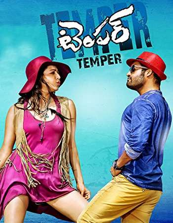 Poster Of Temper 2015 Dual Audio 720p HDRip [Hindi - Telugu] ESubs - UNCUT Free Download Watch Online Worldfree4u