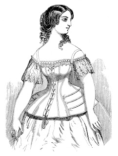 fashion corset image digital illustration victorian