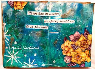 if we had now winter art journal page by Maria Vachkova