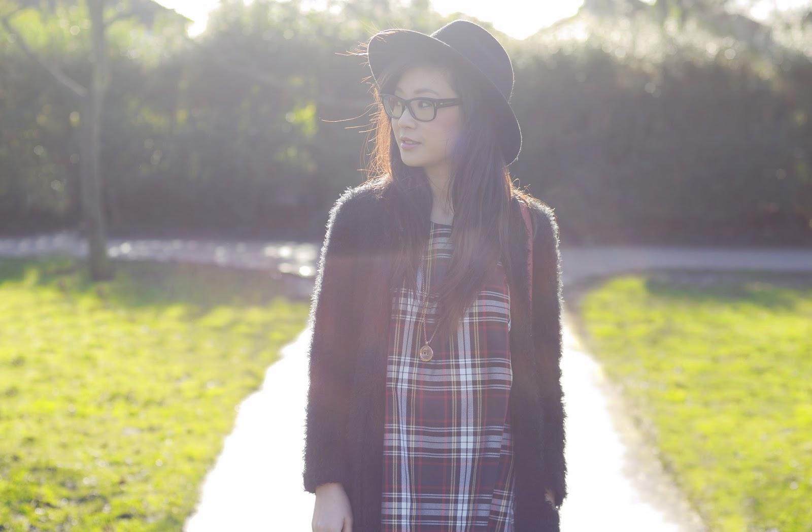 Ways to wear a tartan dress, styling a tartan dress