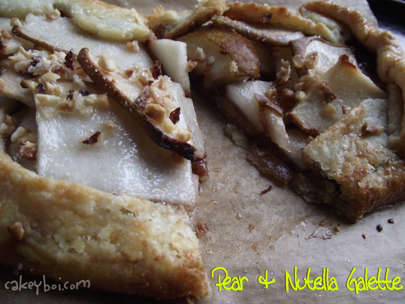 pear nutella pastry